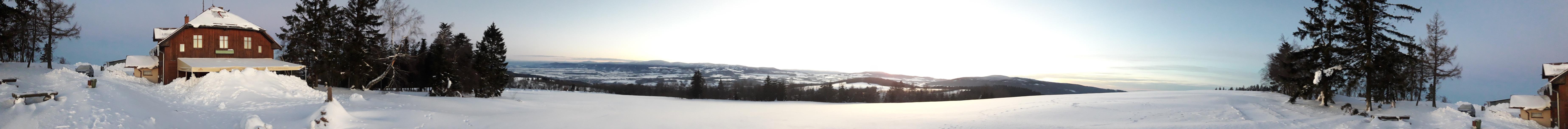 Výhled od Kašparovy chaty - panorama 360
